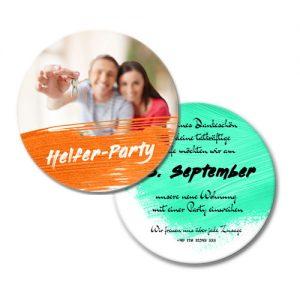 Bierdeckel Einladung selbst gestalten ausgefallene Einladung Bierdeckel selbst gestalten Helfer Party